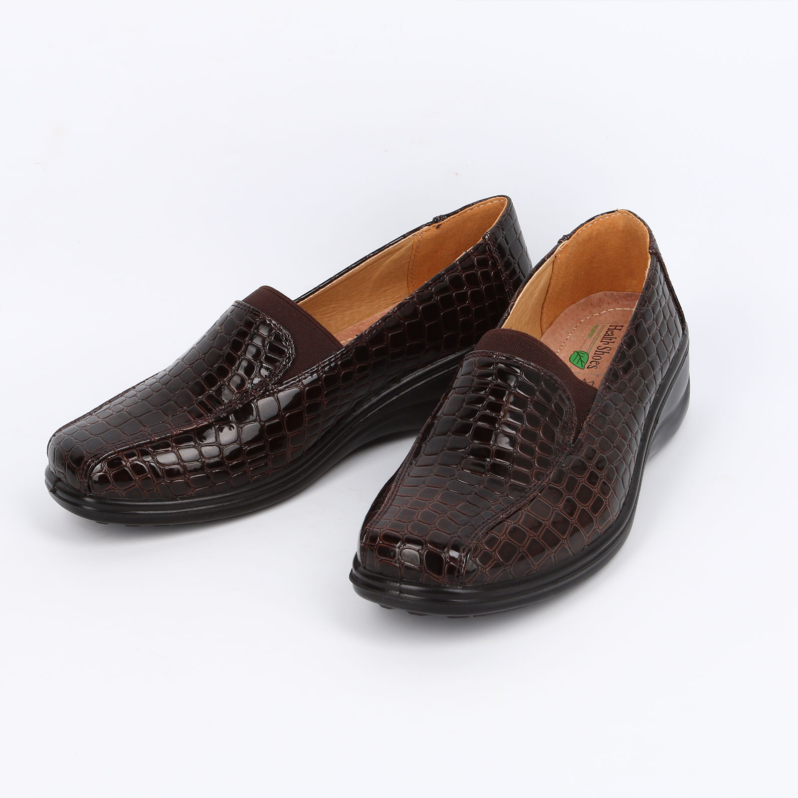 Туфли женские с тиснением пoд рептилию