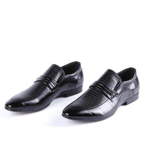Туфли мужские с тиснением на мысу
