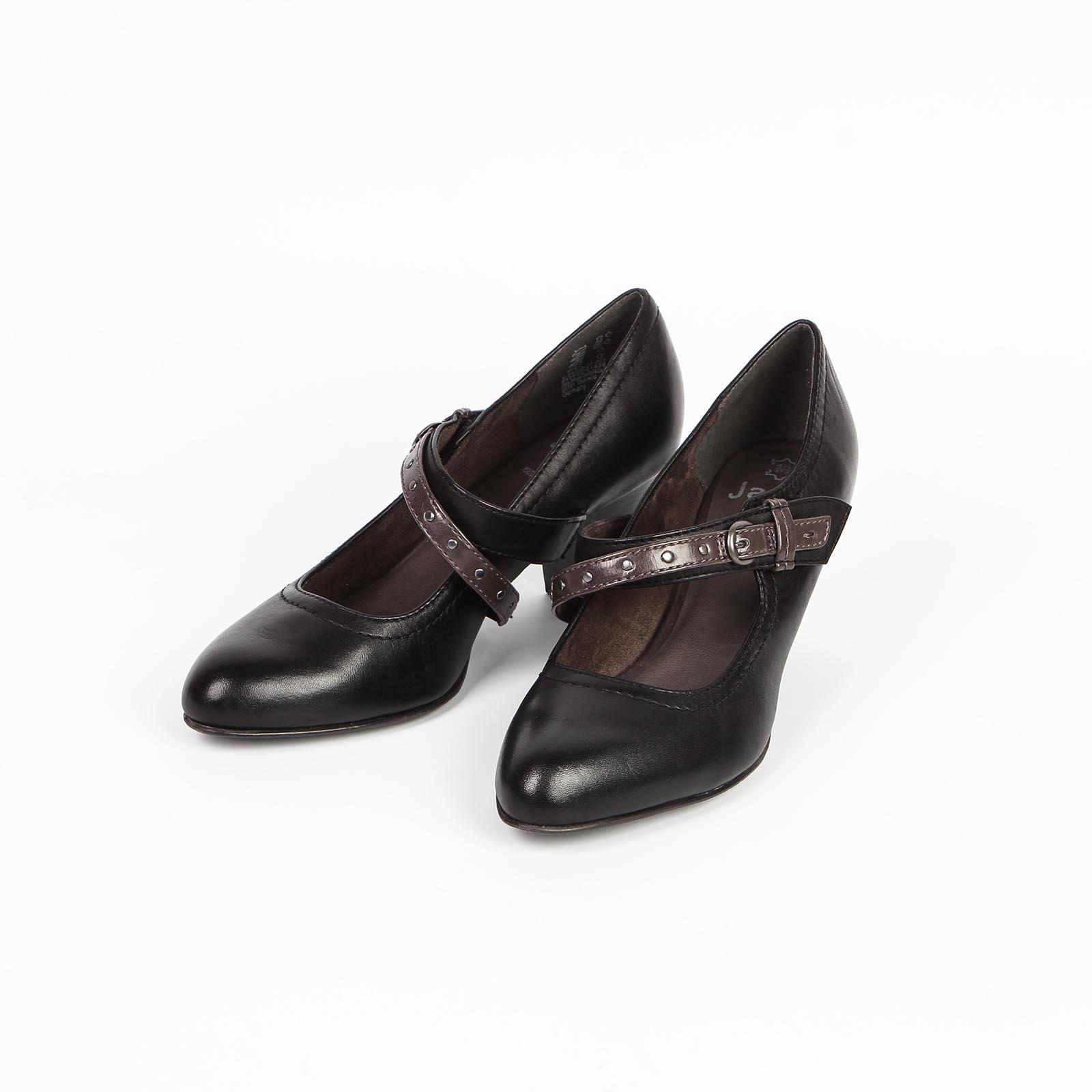 Туфли женские из натуральной кожи с застежкой