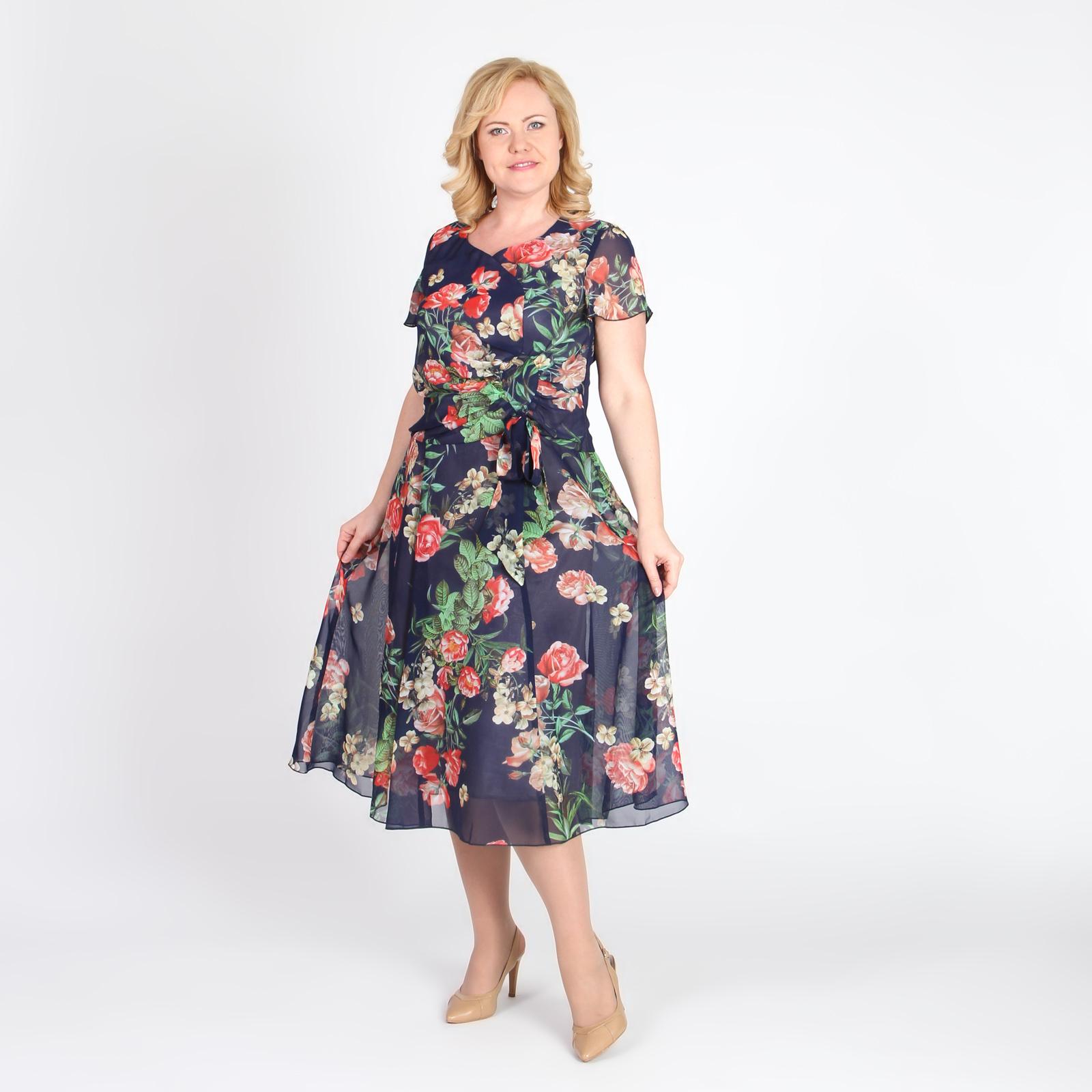 Платье из струящейся ткани с драпировкой