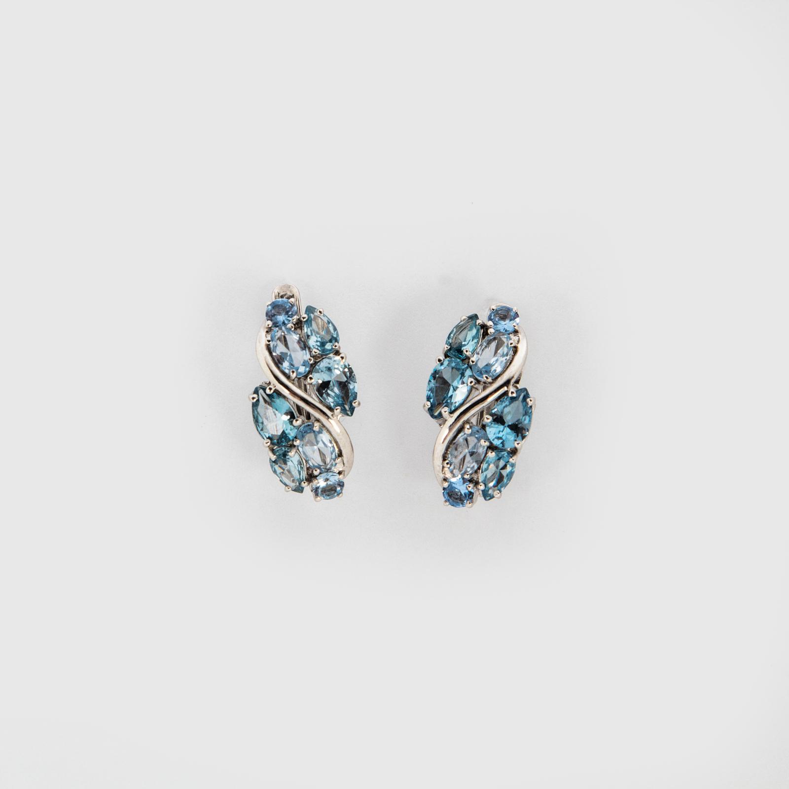 Серебряные серьги «Лютики»