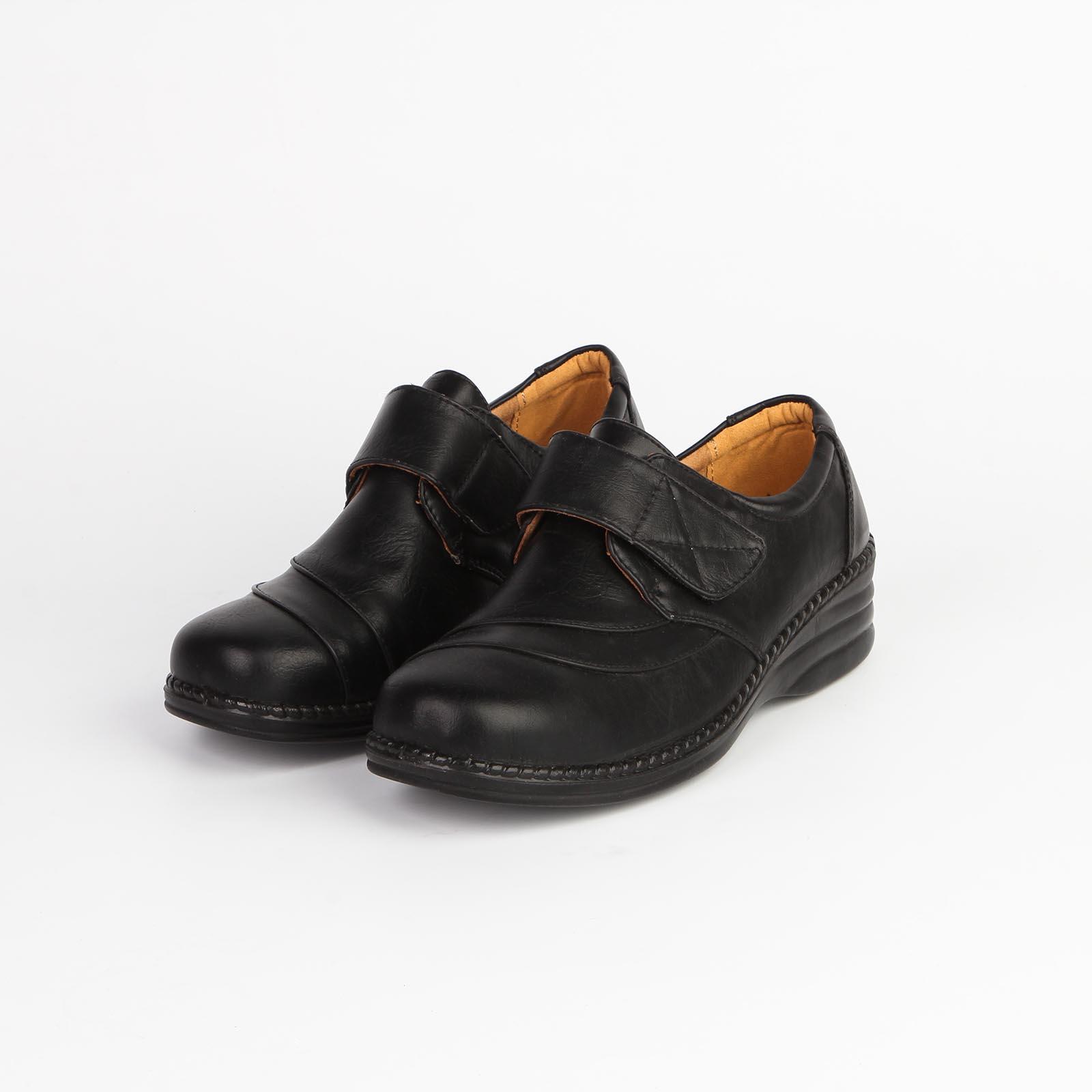 Ботинки женские на липучке и с прострочкой