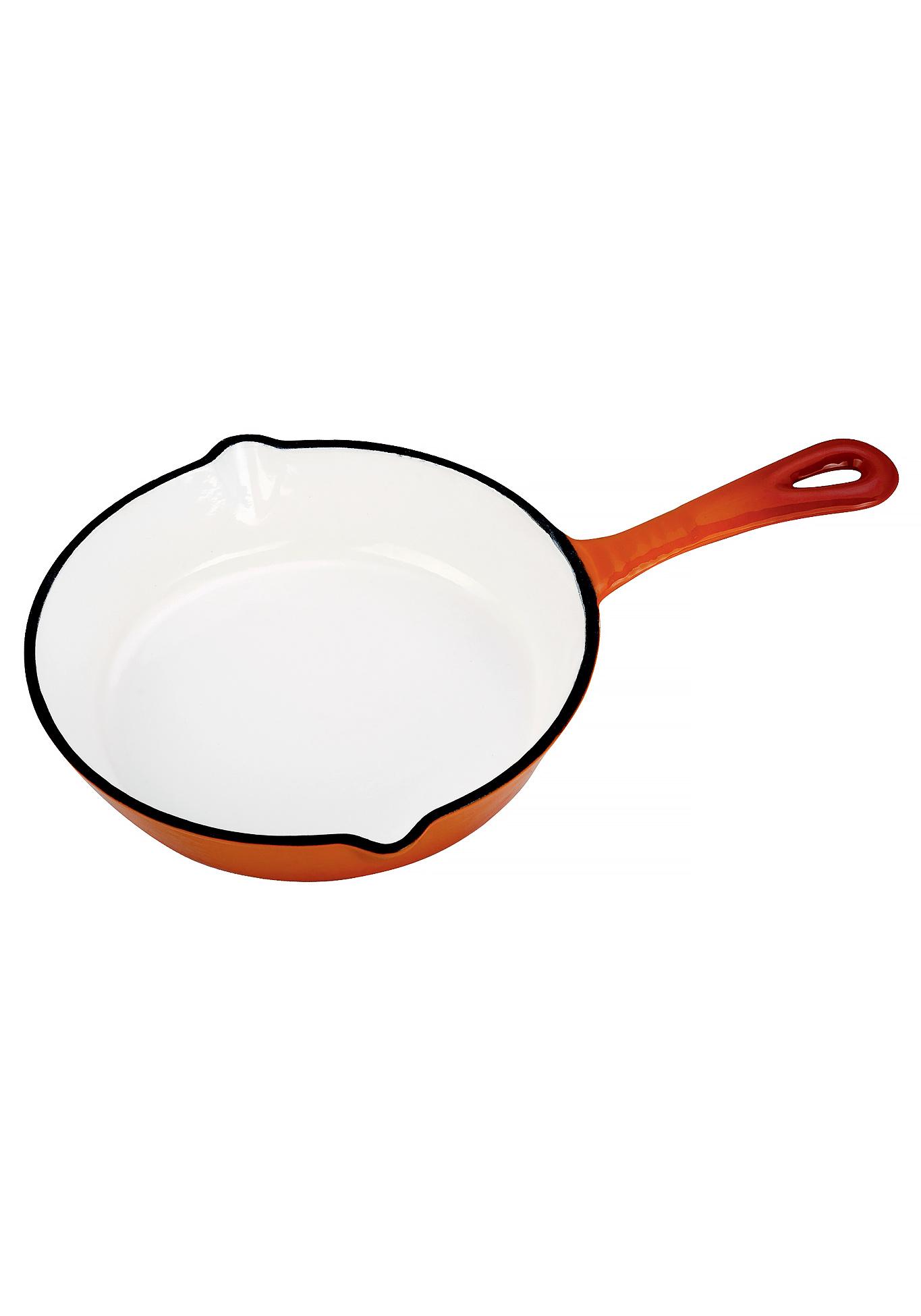 Сковорода чугунная эмалированная + подарок