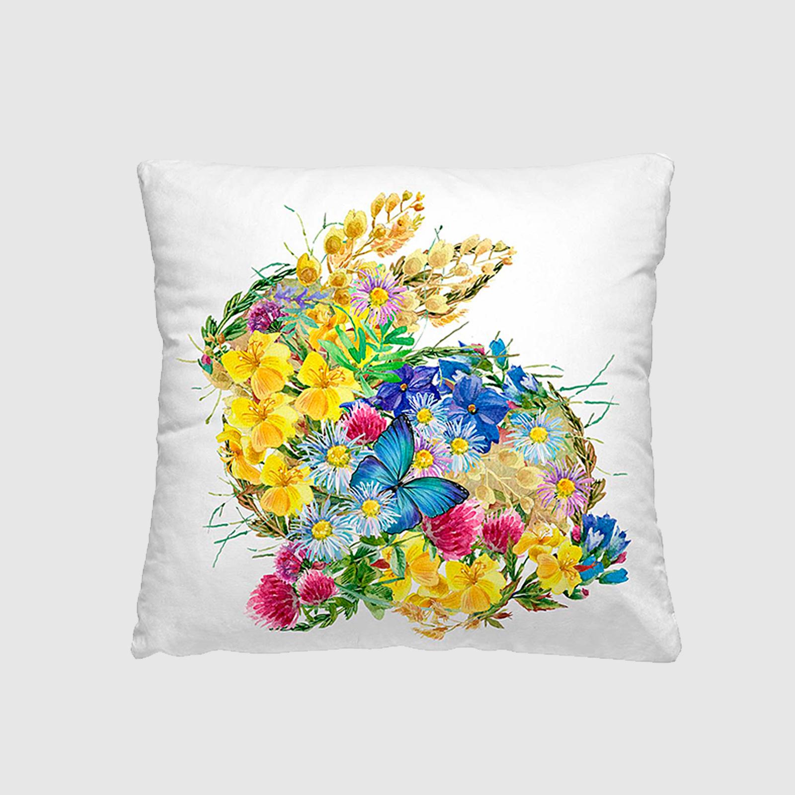 Комплект из 2-х декоративных подушек «Летний букет»