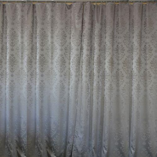 Комплект штор «Серебристый жаккард»