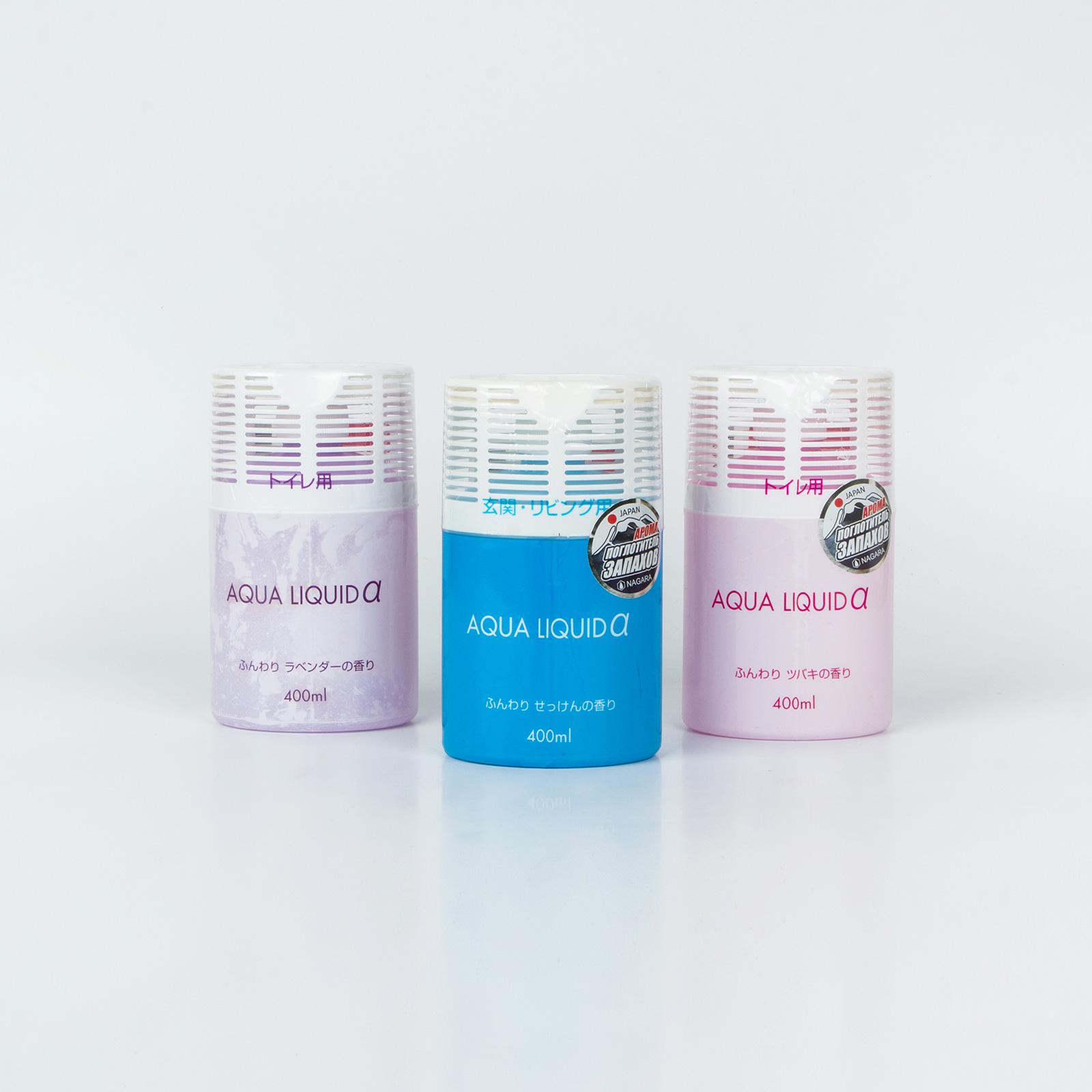 Набор арома-поглотителей запахов для туалета «Nagara» Камелия+Лаванда+Мыло