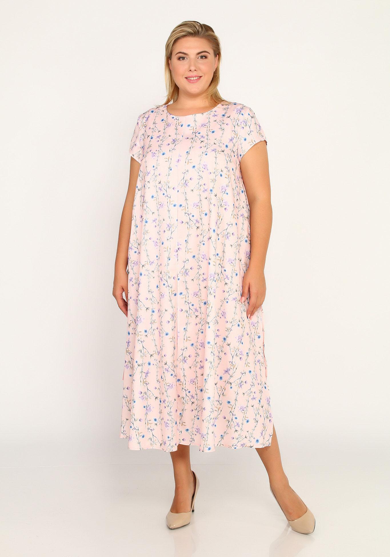 Платье с имитацией туники