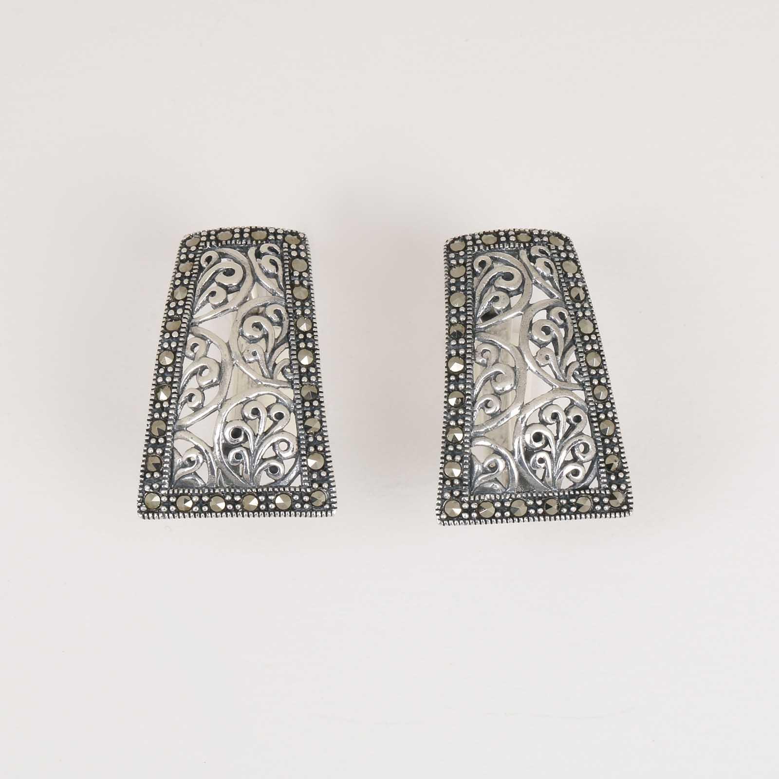 Серебряные серьги «Ажурное кружево»