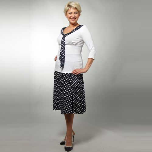 Комплект: юбка и блуза в горох