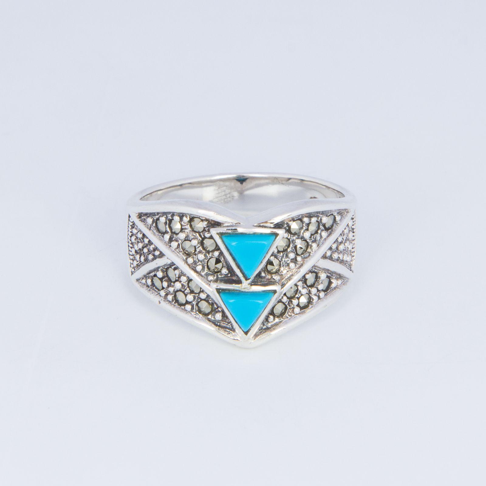 Кольцо «Бирюзовый треугольник»