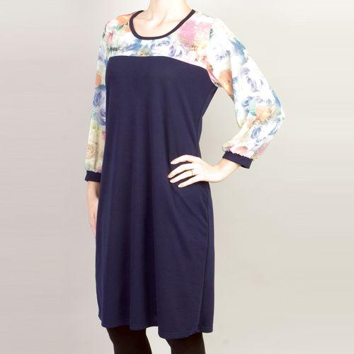 Платье на кокетке с рукавами из шифона