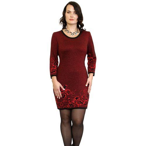 Платье с цветочным узором и люрексом