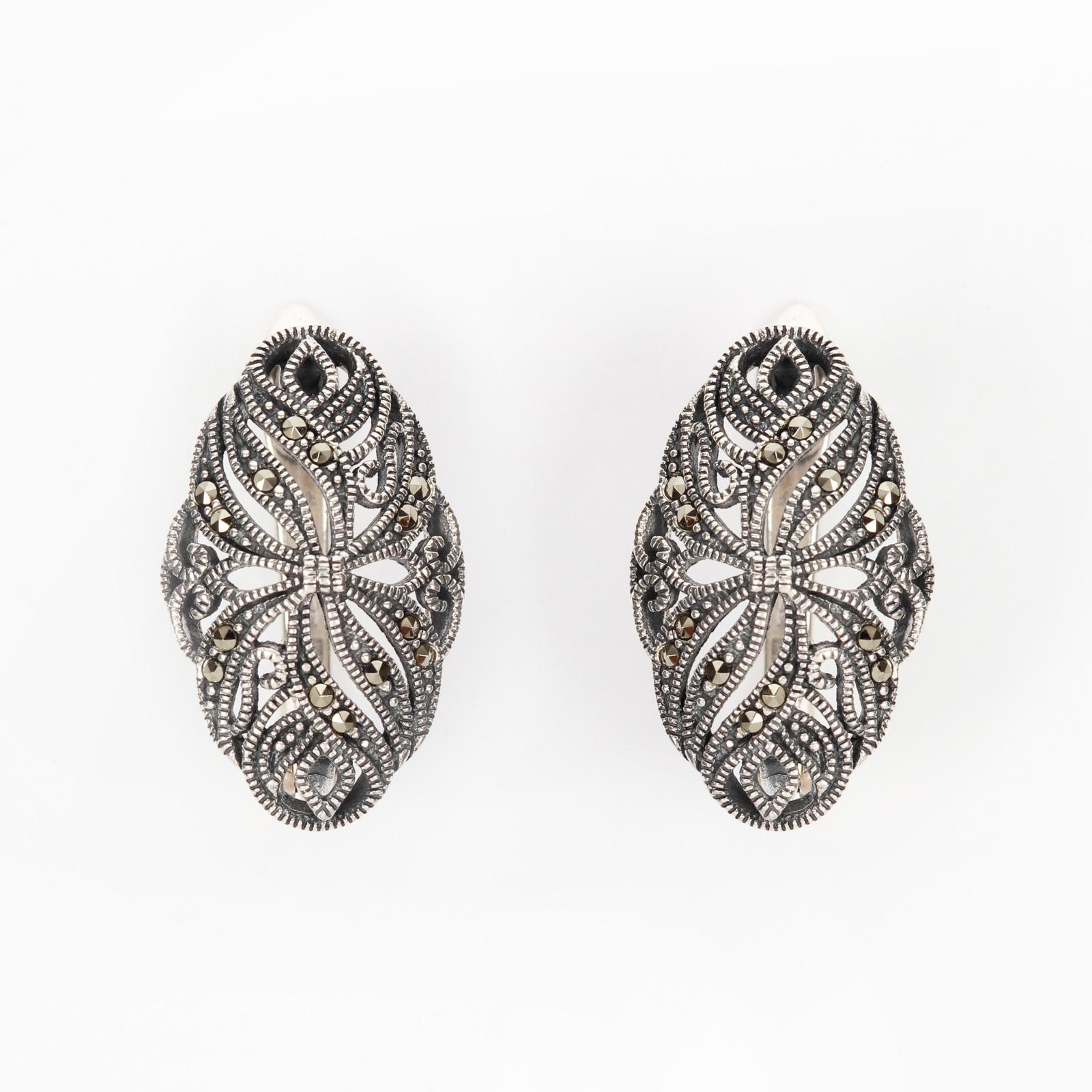 Серебряные серьги «Ажур»