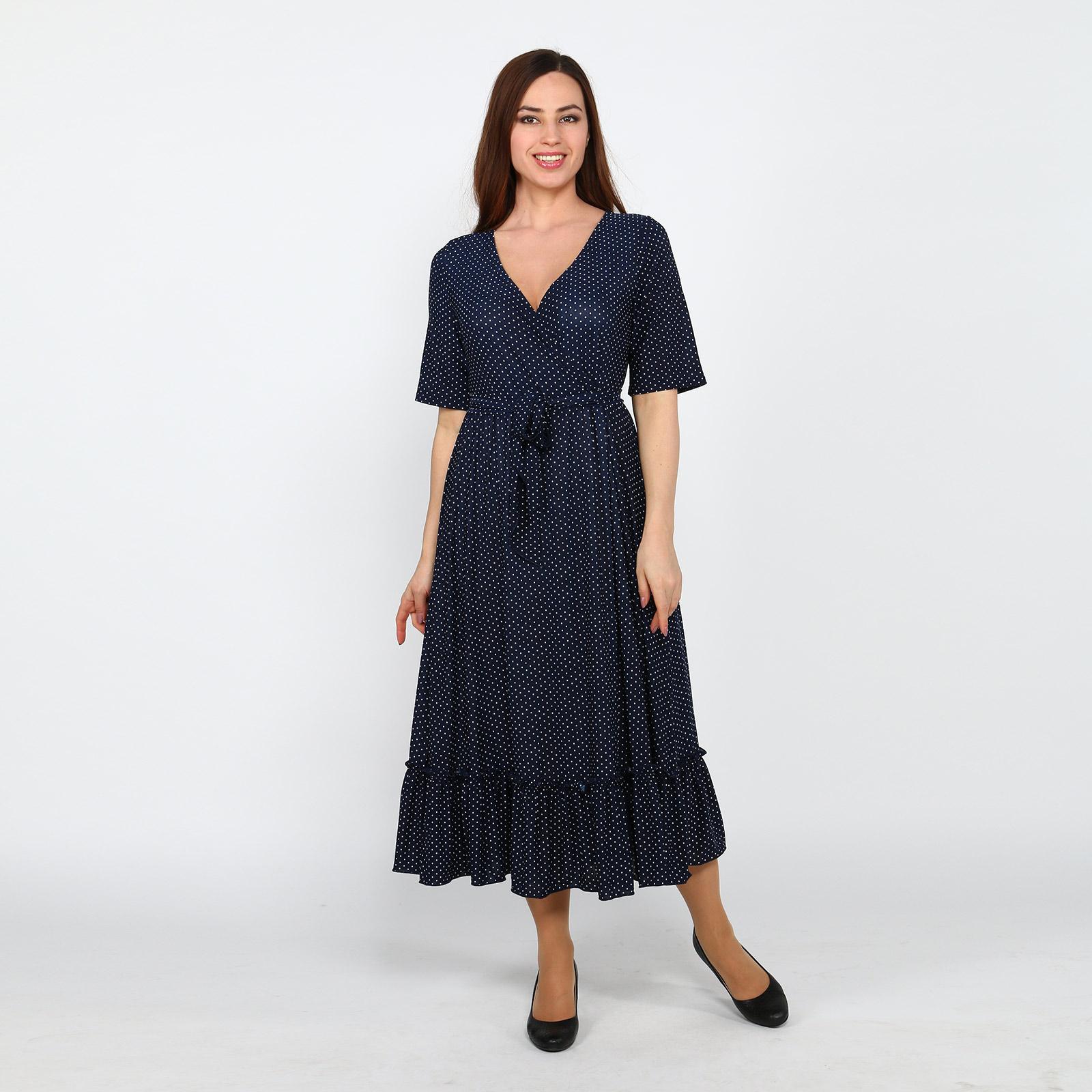 Платье с расклешенной юбкой и поясом