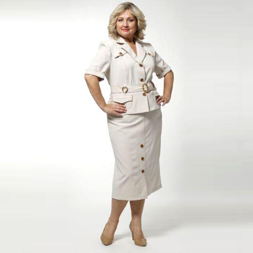 Костюм в стиле «сафари»: юбка и жакет