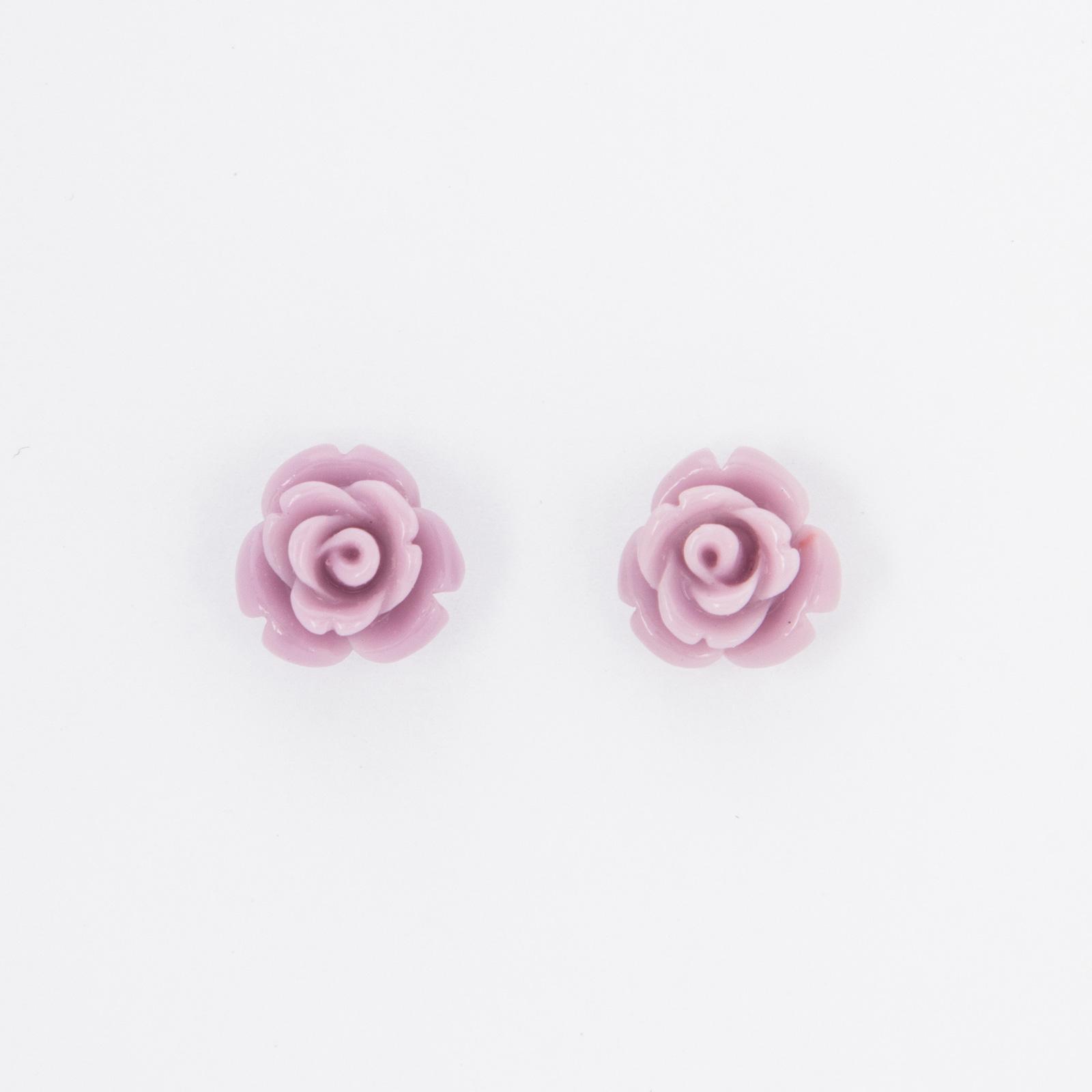 Серьги-пусеты «Розочка»