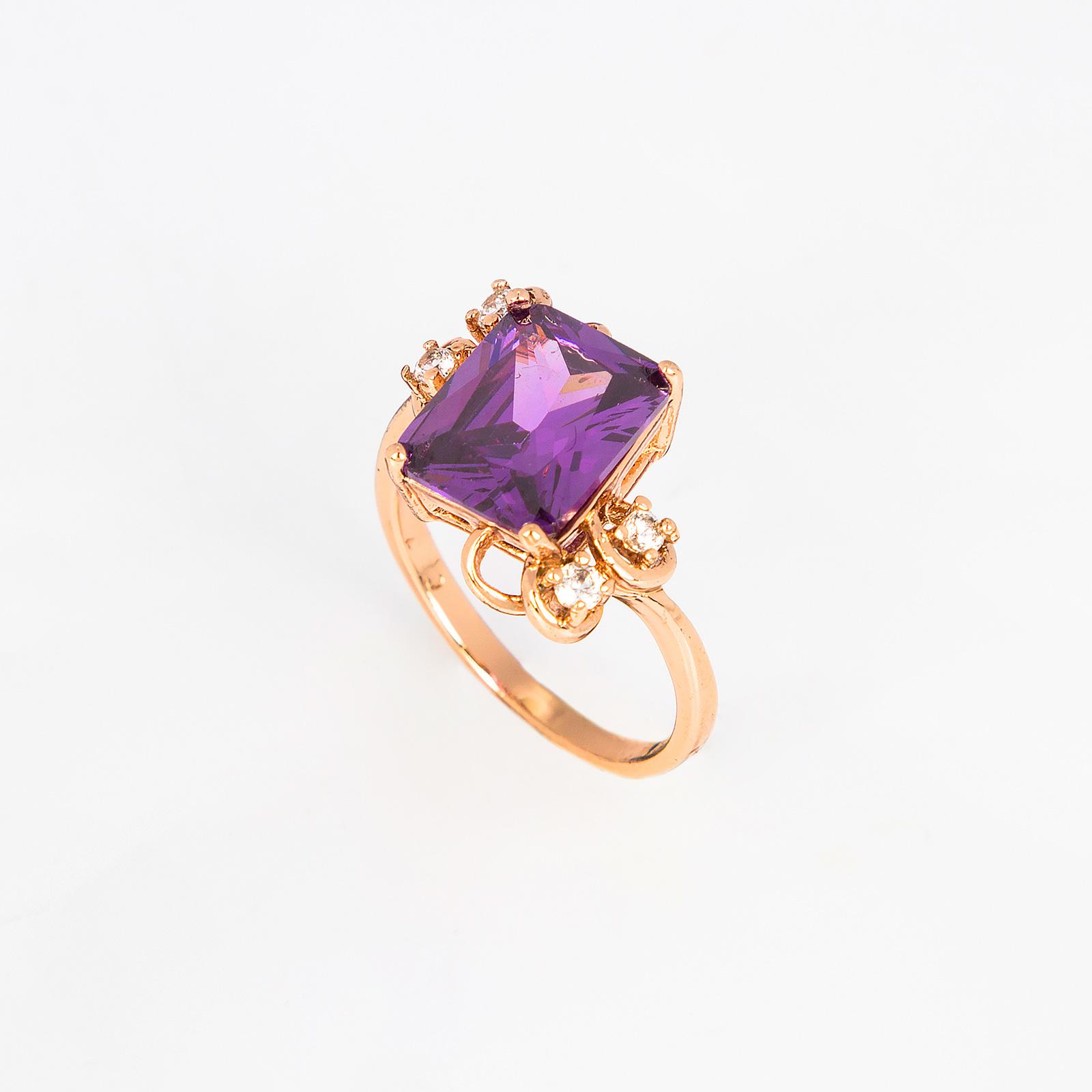 Кольцо «Аметистовый узор»