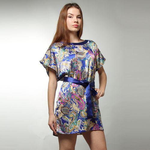 Платье-туника с ярким принтом