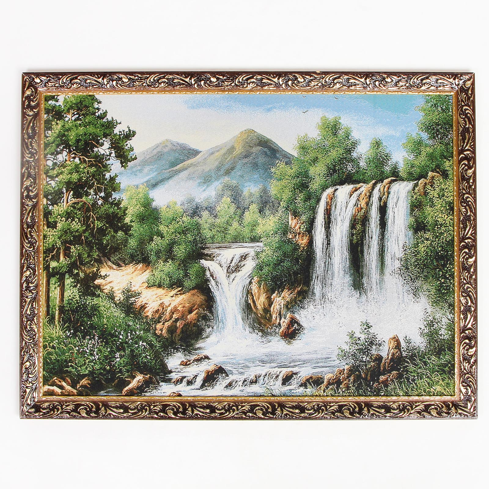 Картина-гобелен в двойном резном багете
