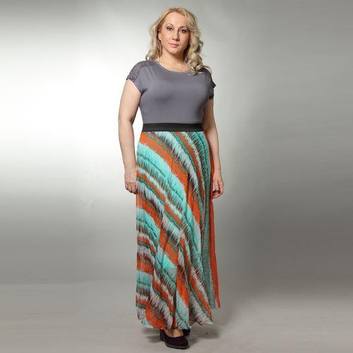 Длинная юбка свободного кроя