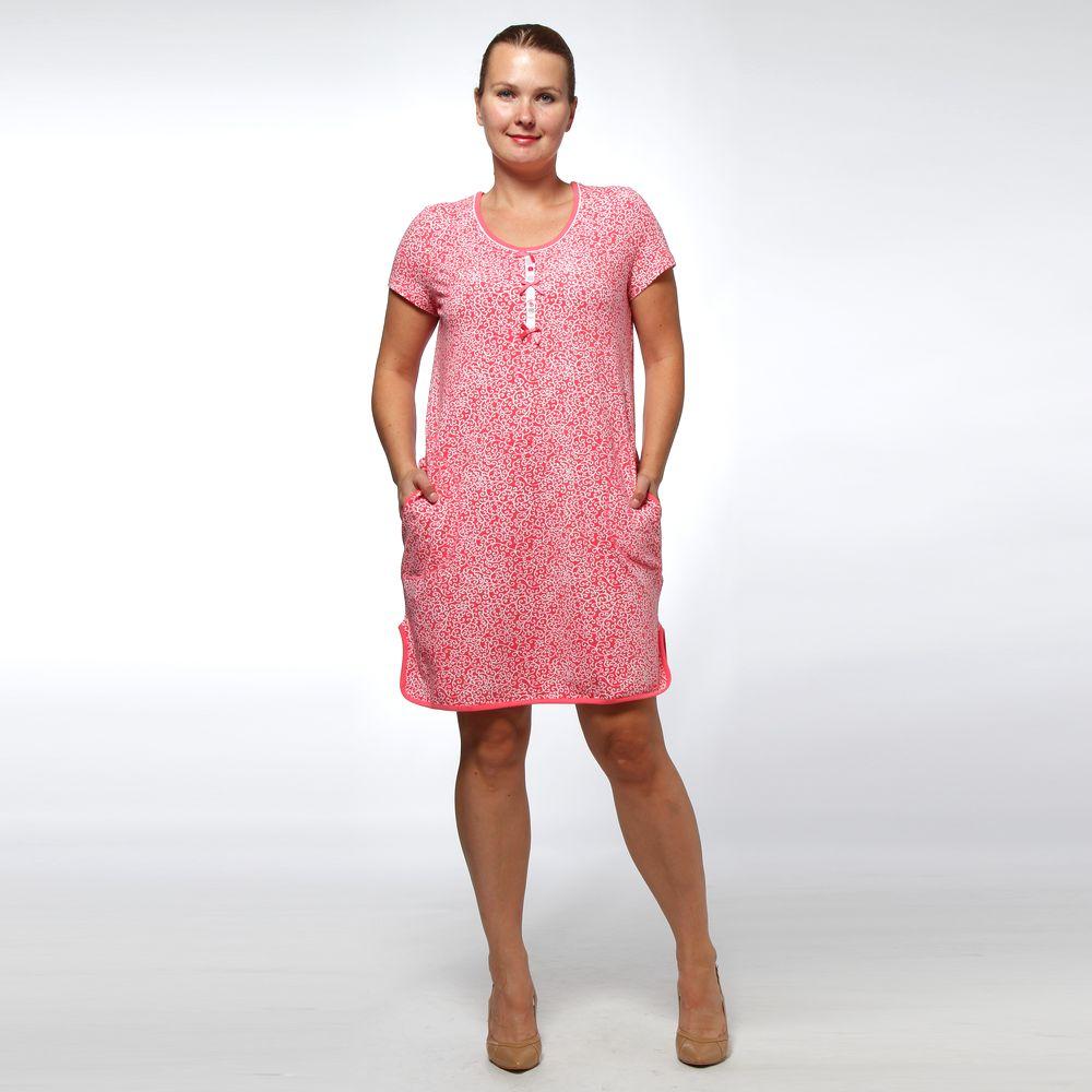Платье домашнее с декоративными пуговицами