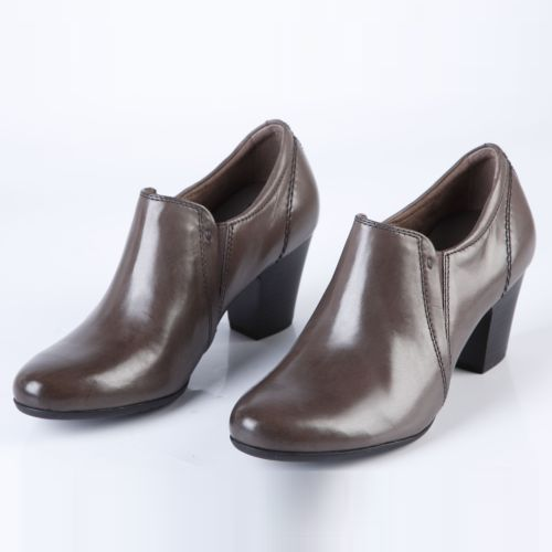 Ботильоны женские классические на каблуке с эластичной вставкой