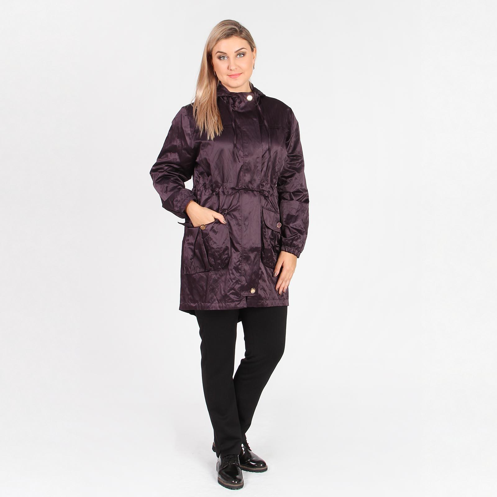 Куртка с карманами и кулиской на талии