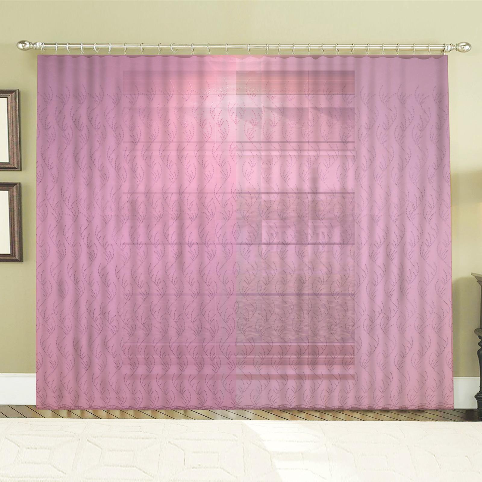 Тюль «Розовая Капселла»