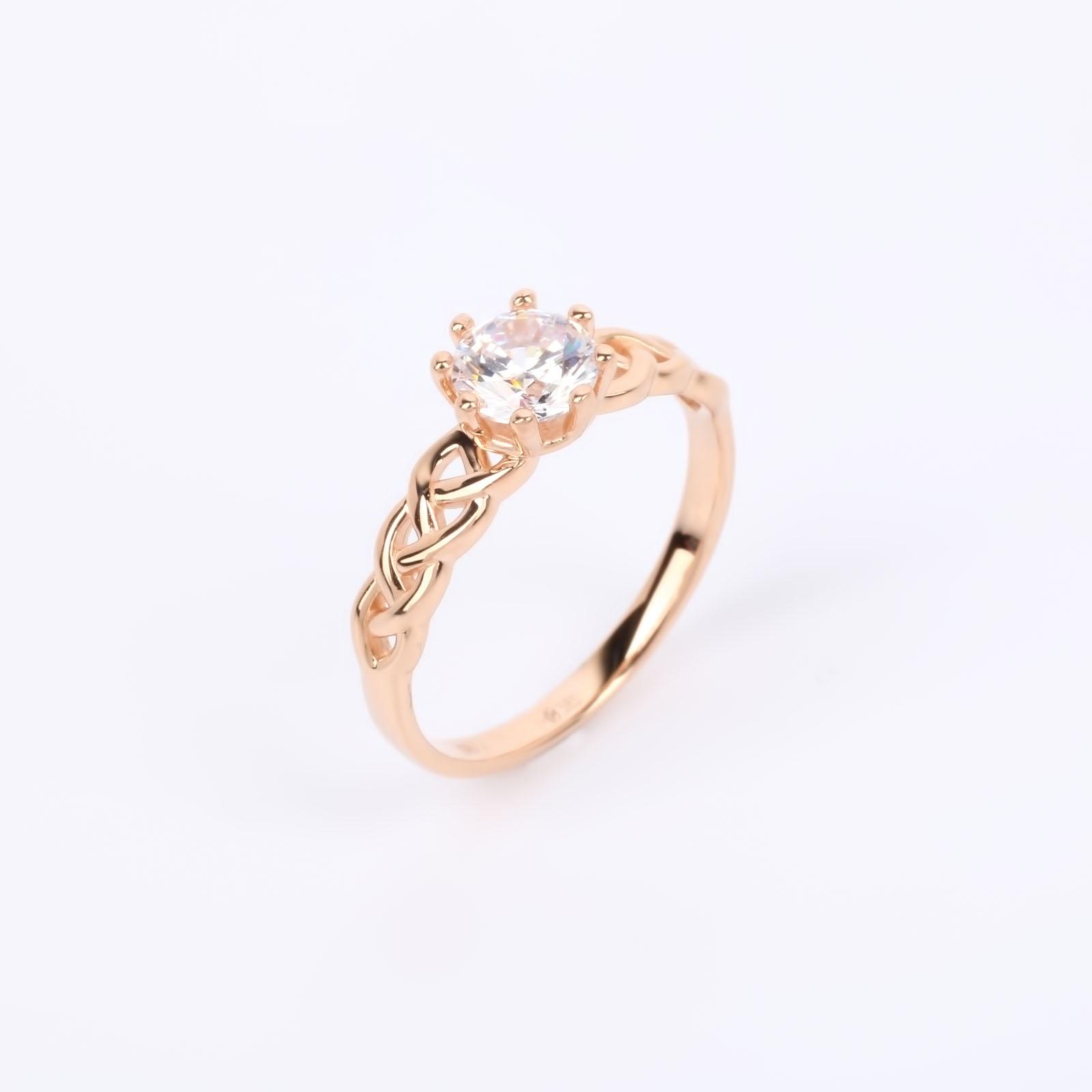 """Золотое кольцо """"Изысканный акцент"""""""