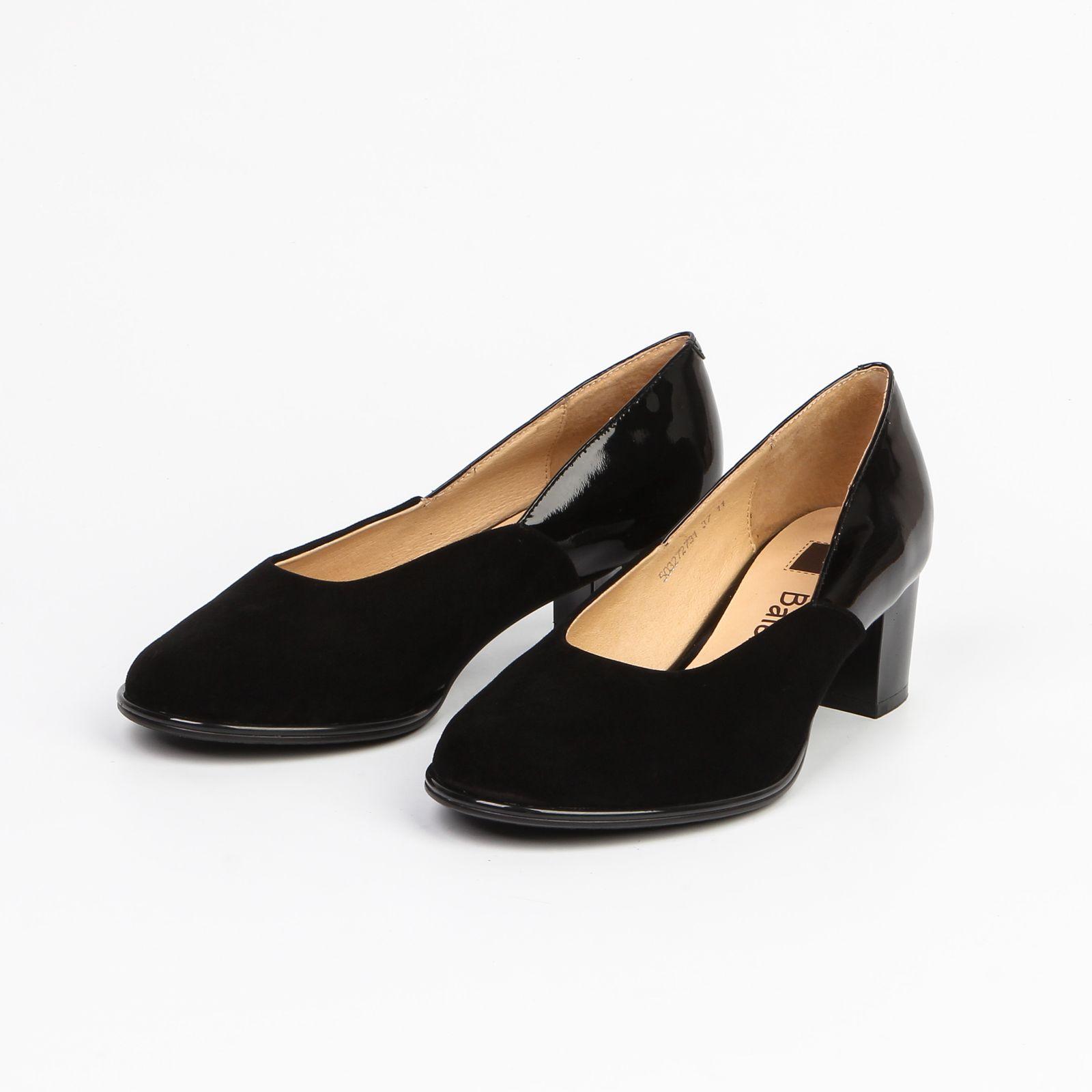 Туфли женские с лакированным задником