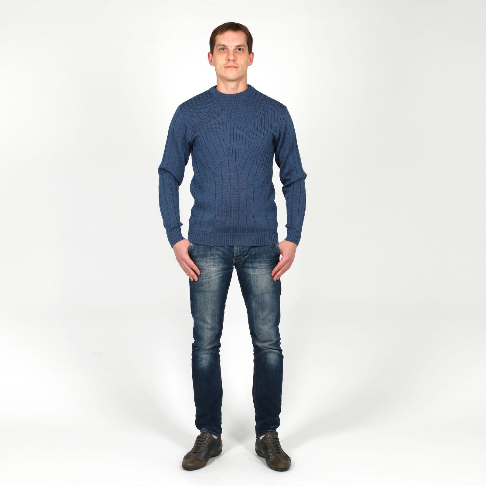 Джемпер мужской фактурной вязки