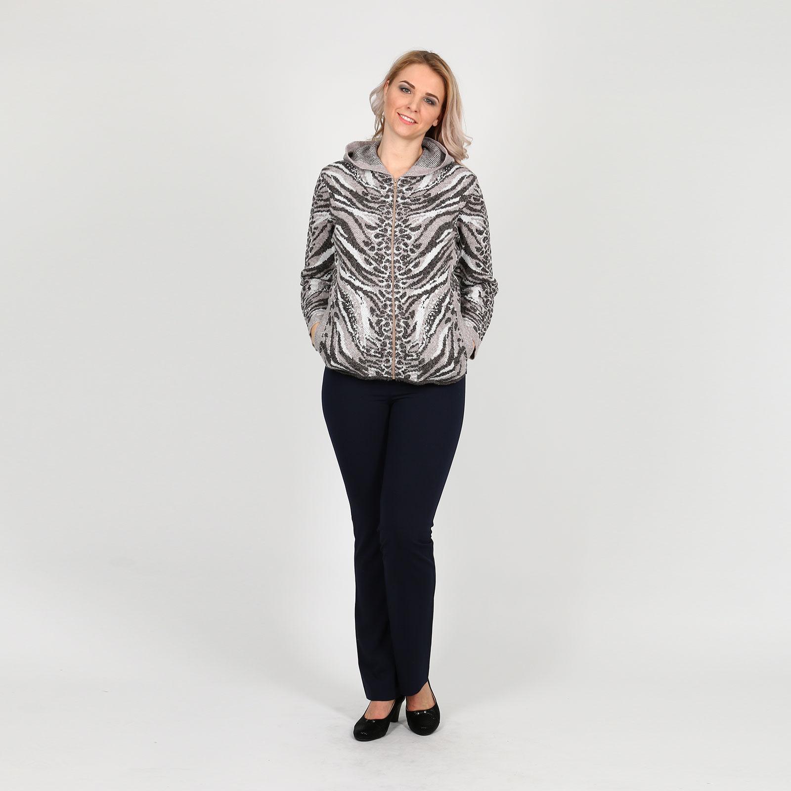 Жакет на молнии с капюшоном и карманами