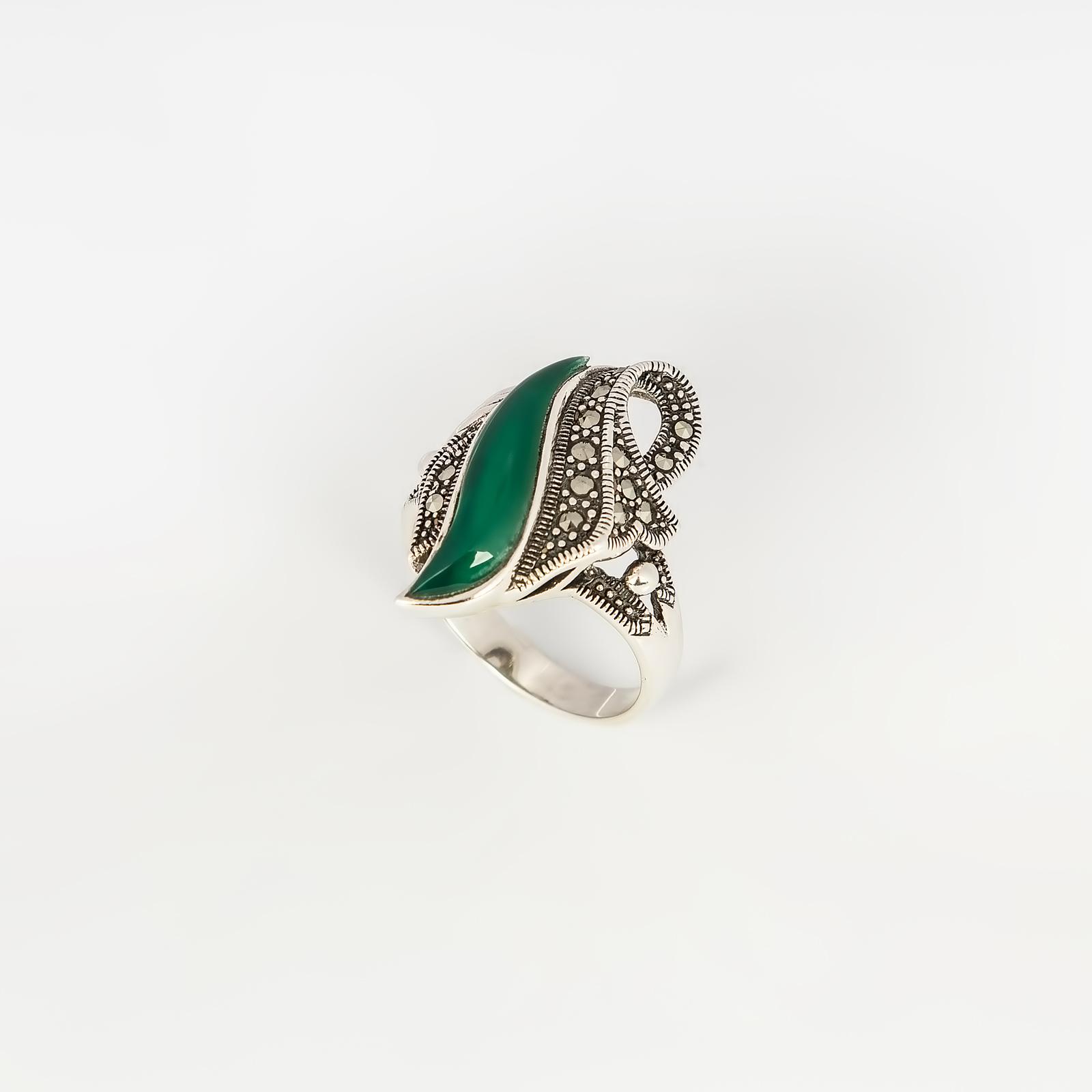 Серебряное кольцо «Волнистые узоры»