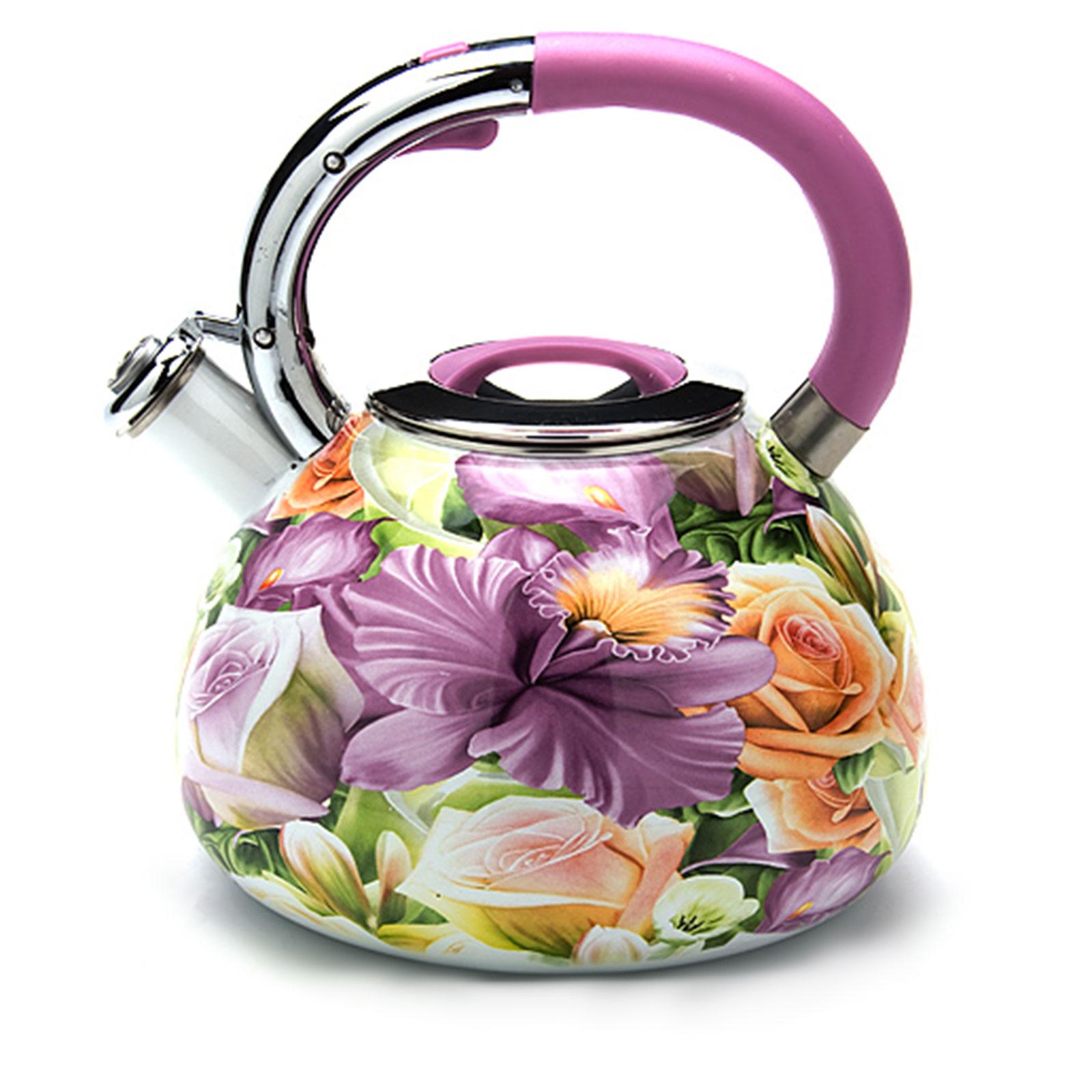 """Чайник со свистком """"Цветочный праздник"""""""