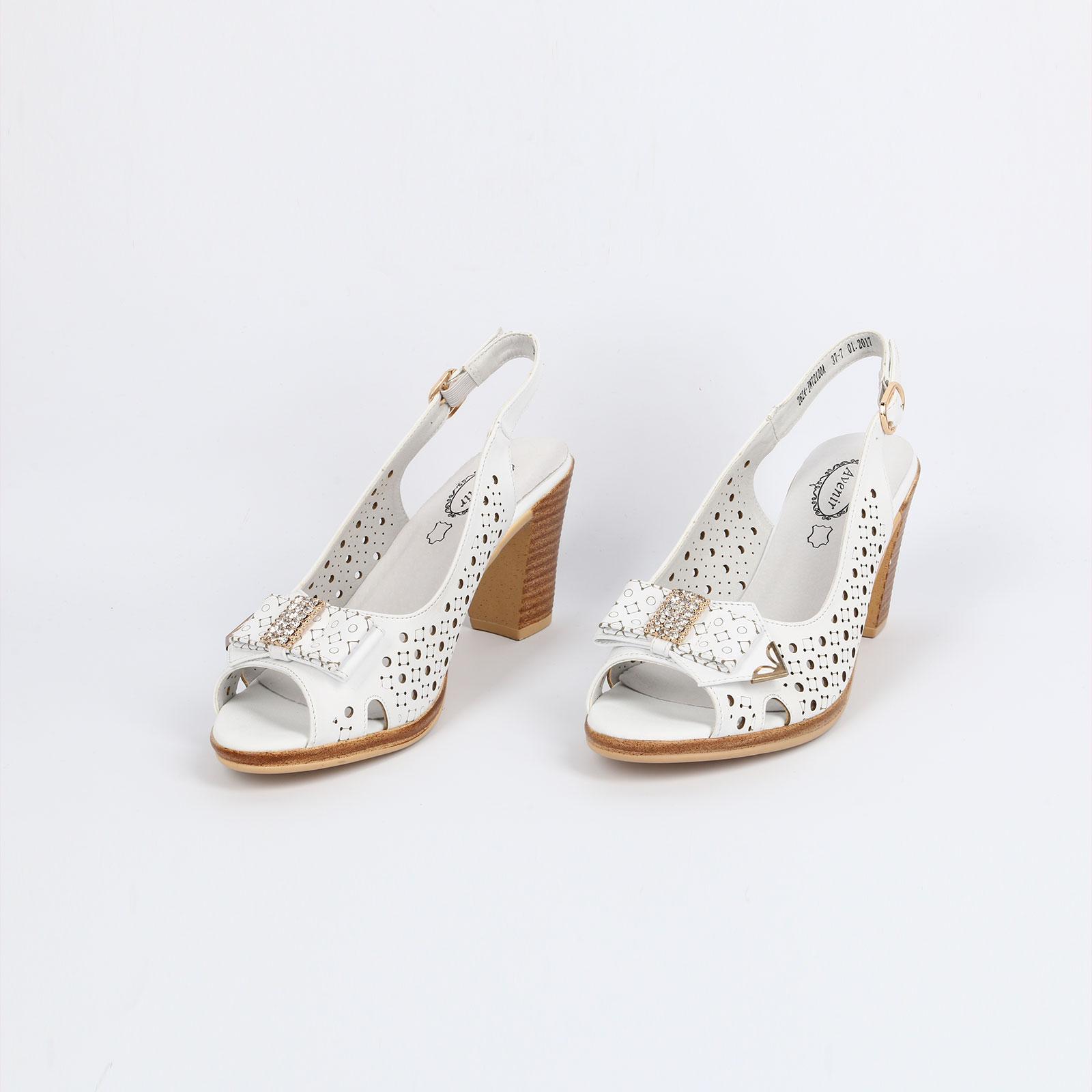 Туфли с открытой пяткой на составном каблуке
