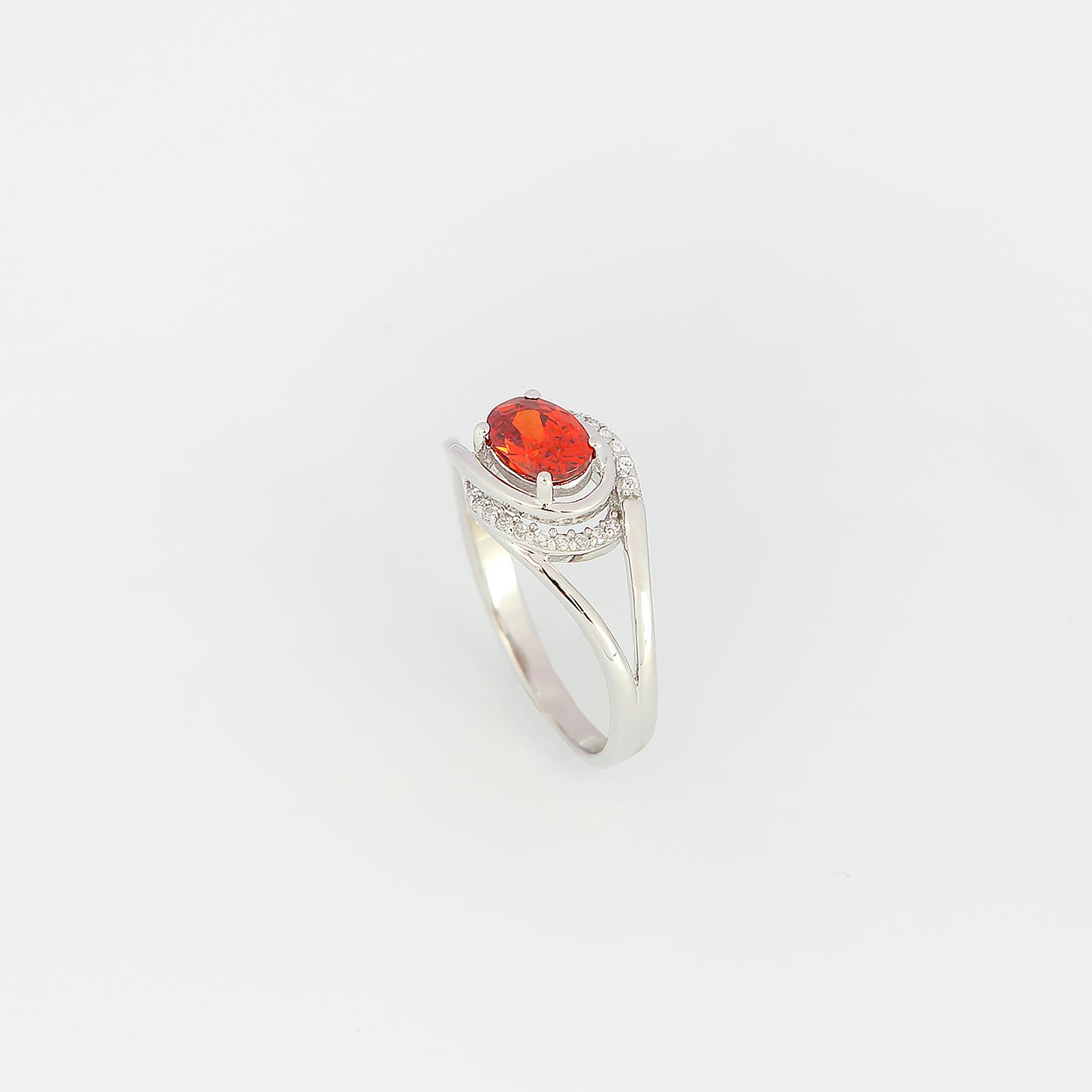 Серебряное кольцо «Красная королева»