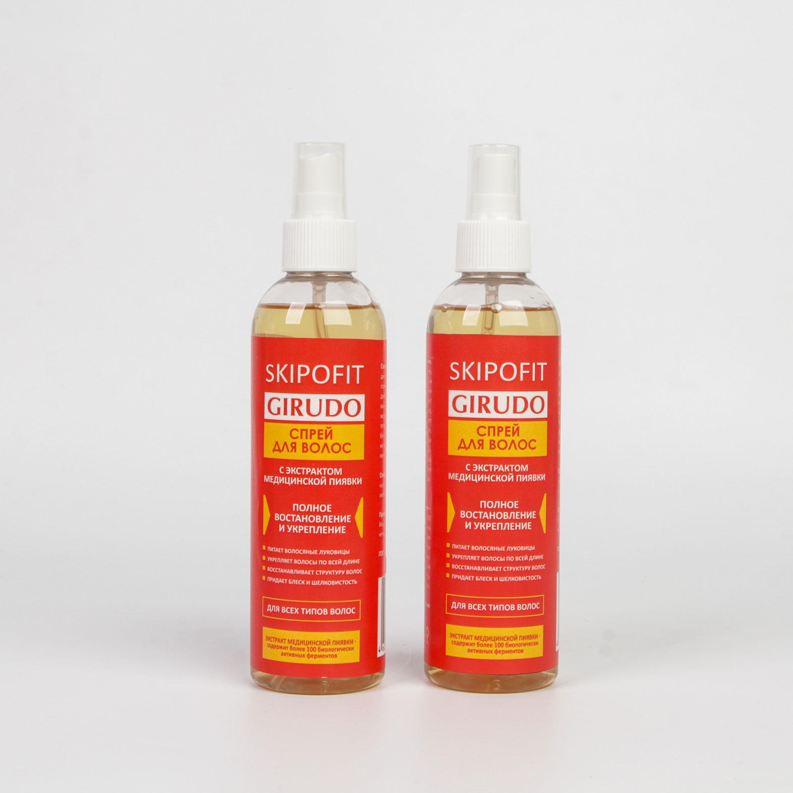 Спрей для волос с экстрактом медицинской пиявки, 2 шт.