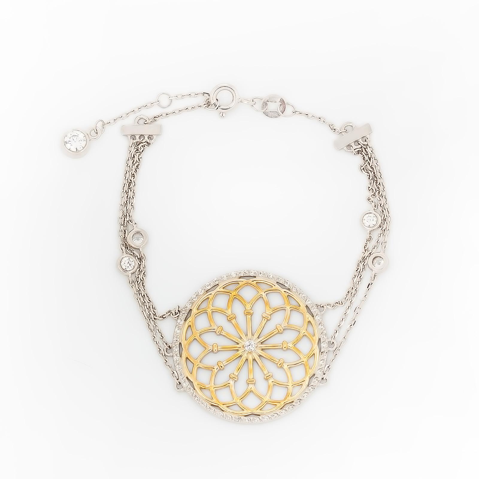 Серебряный браслет «Европейский дизайн»
