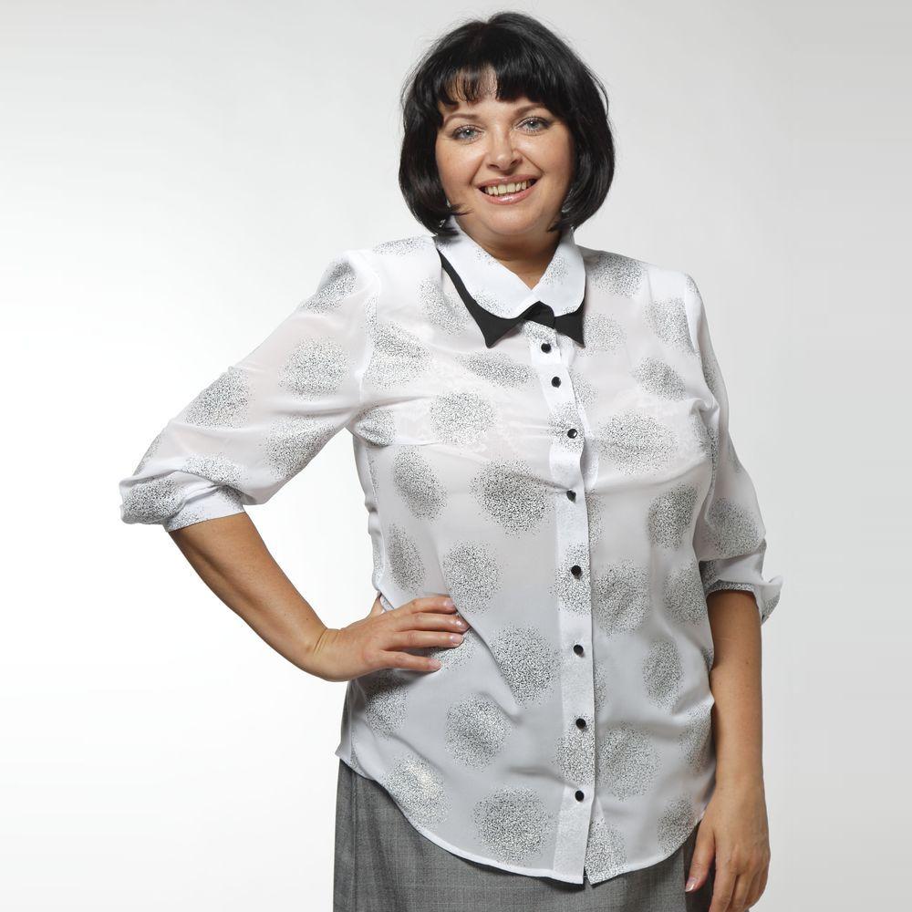 Рубашка свободного кроя с эффектным воротником рубашка gerry weber gerry weber ge002ewwra96
