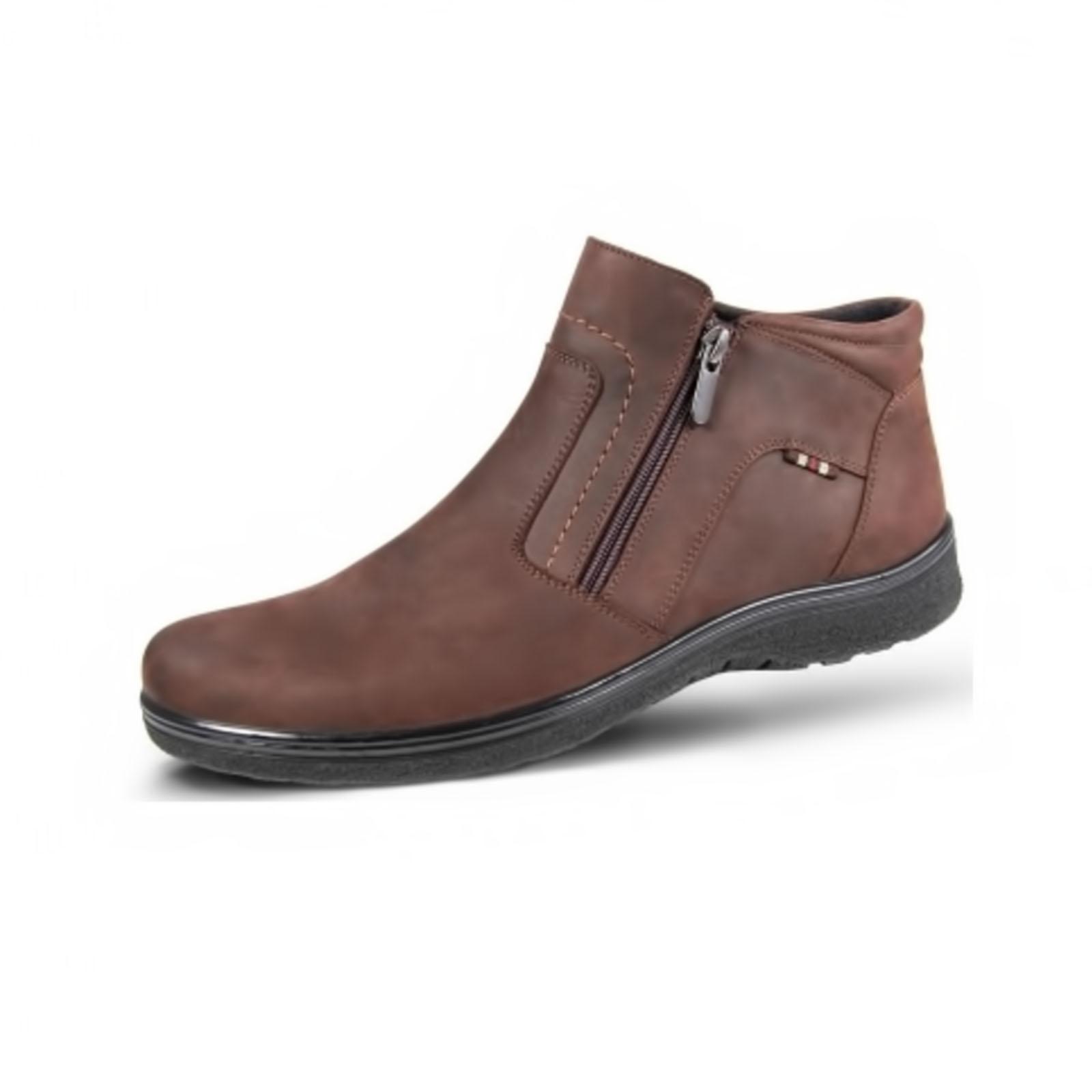 Мужские ботинки с двумя молниями