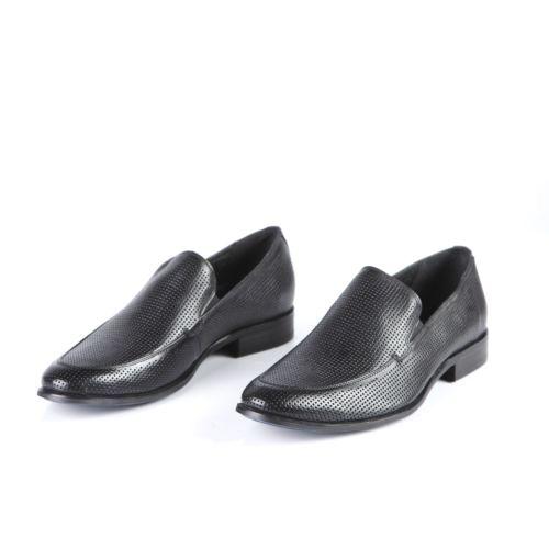 Мужские туфли перфорированные с эластичными вставками