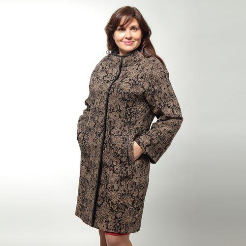 Пальто шерстяное с византийским узором