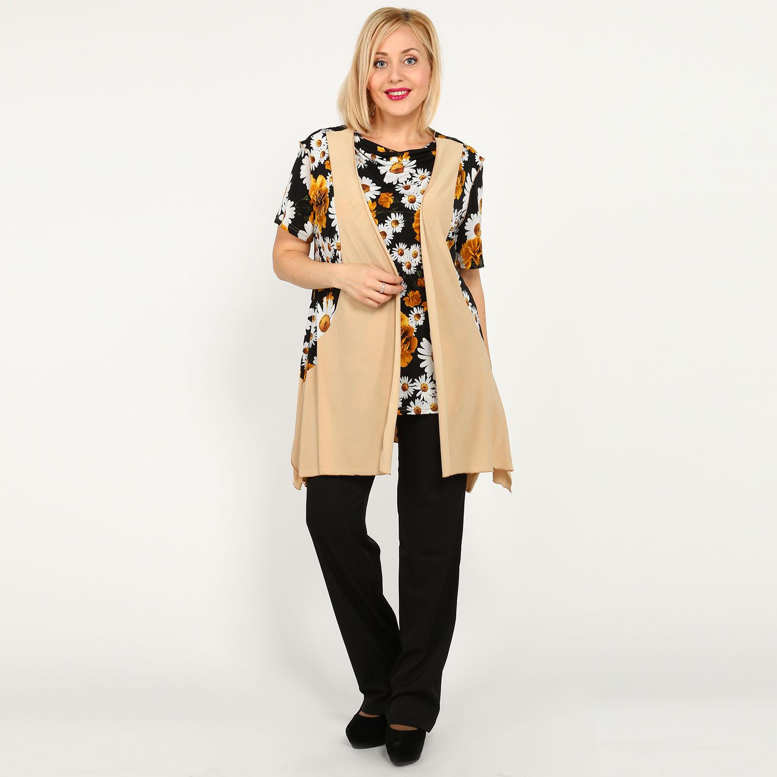 Костюм: блуза и жилет