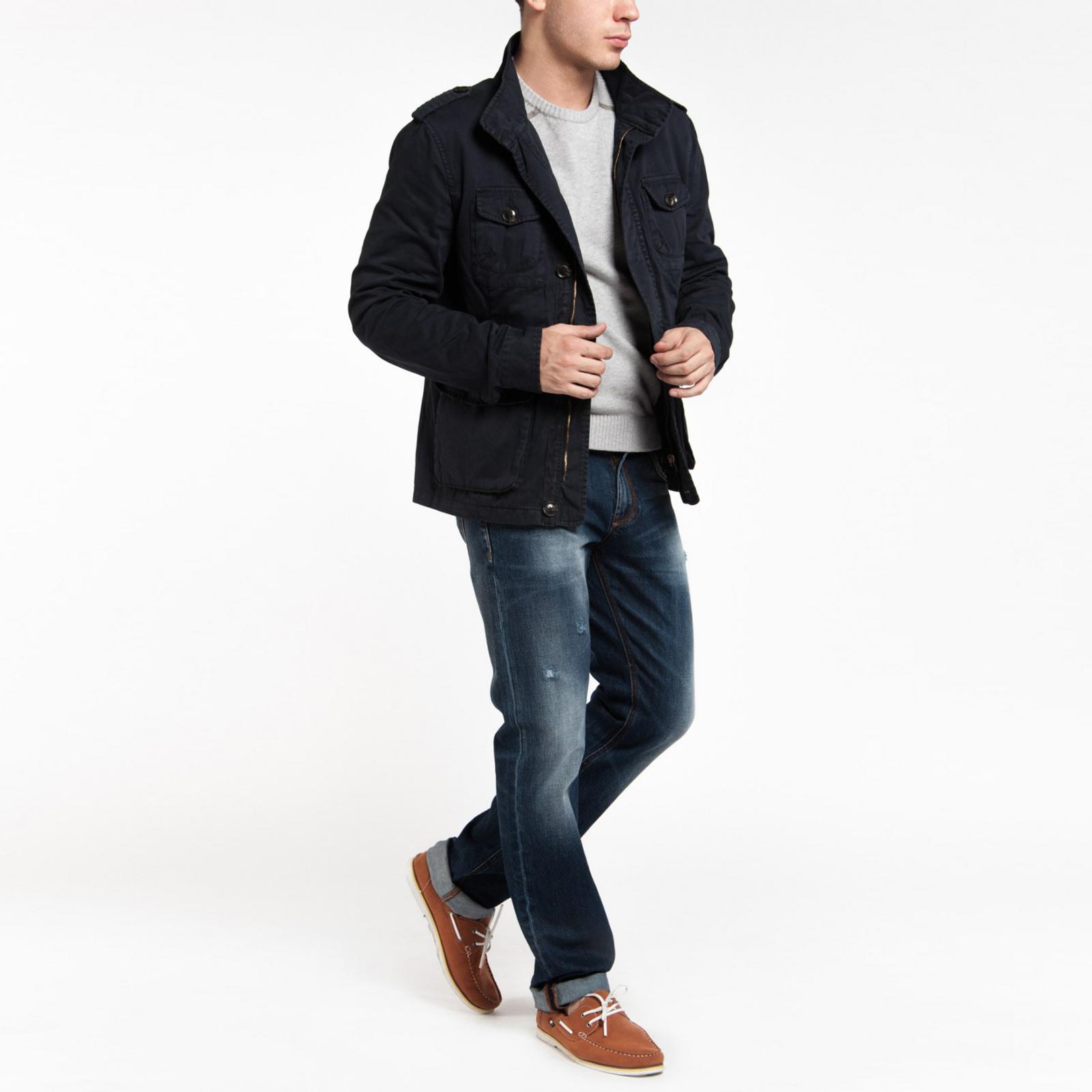 Куртка мужская с карманами и воротником стойка