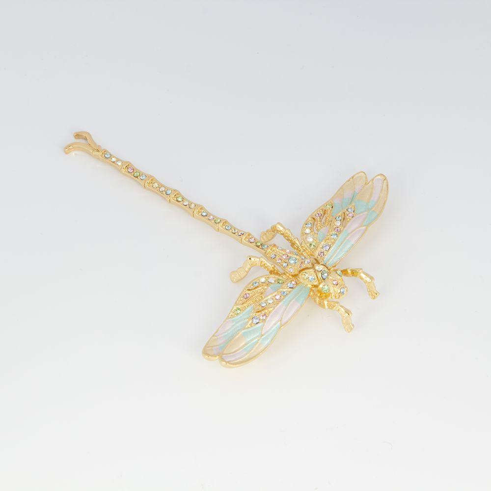 Брошь «Золотая стрекоза»