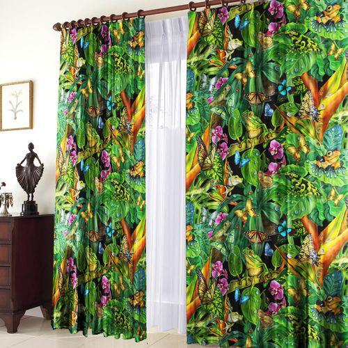 Купить Комплект штор «Тропический лес ...: shop24.com/products/tekstil/komplekt_shtor_tropicheskiy_les_blekaut