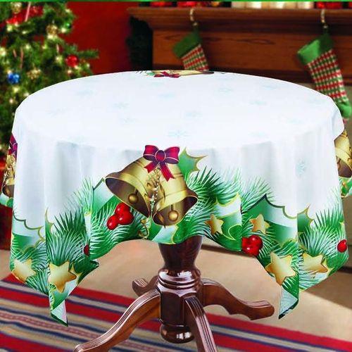Скатерть + гардины «Рождественские колокольчики»