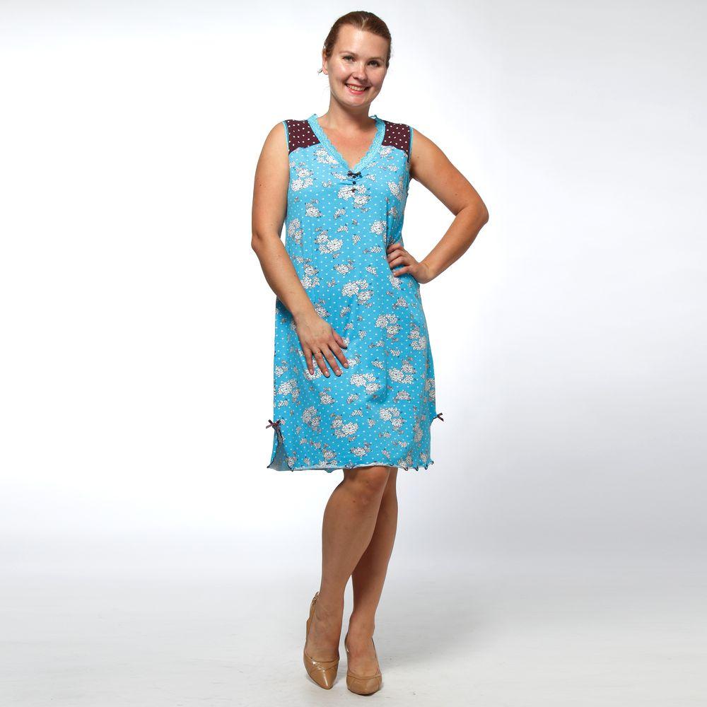 Платье домашнее с принтом «горошек»