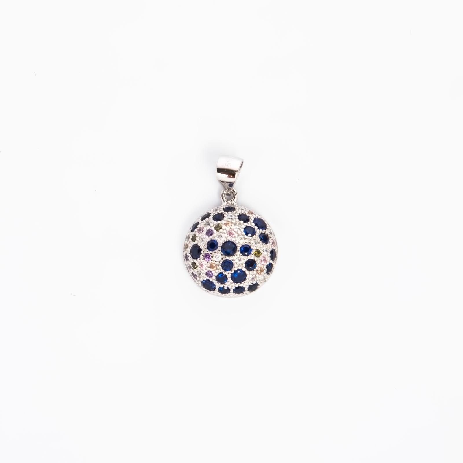 Серебряная подвеска «Многоцветие циркона»