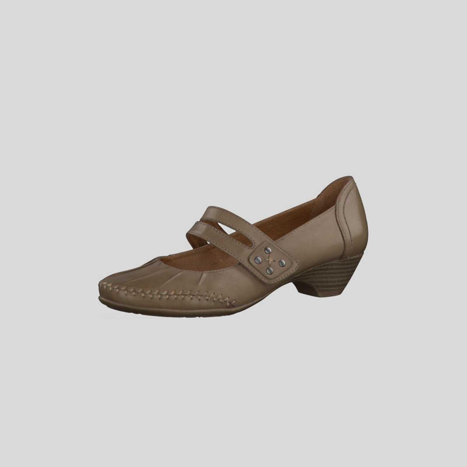Туфли женские из натуральной кожи украшенные строчкой с оригинальным ремешком